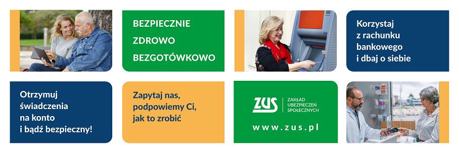 Bezpiecznie, zdrowo, bezgotówkowo – kampania informacyjno-edukacyjna dla klientów ZUS